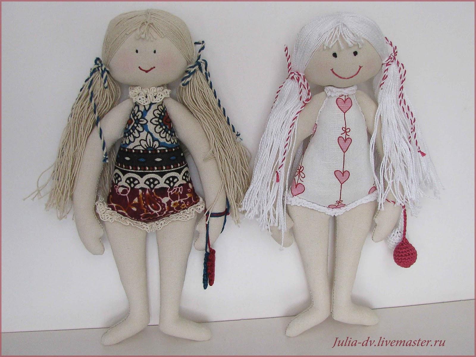 Текстильные маленькие куклы своими руками 90