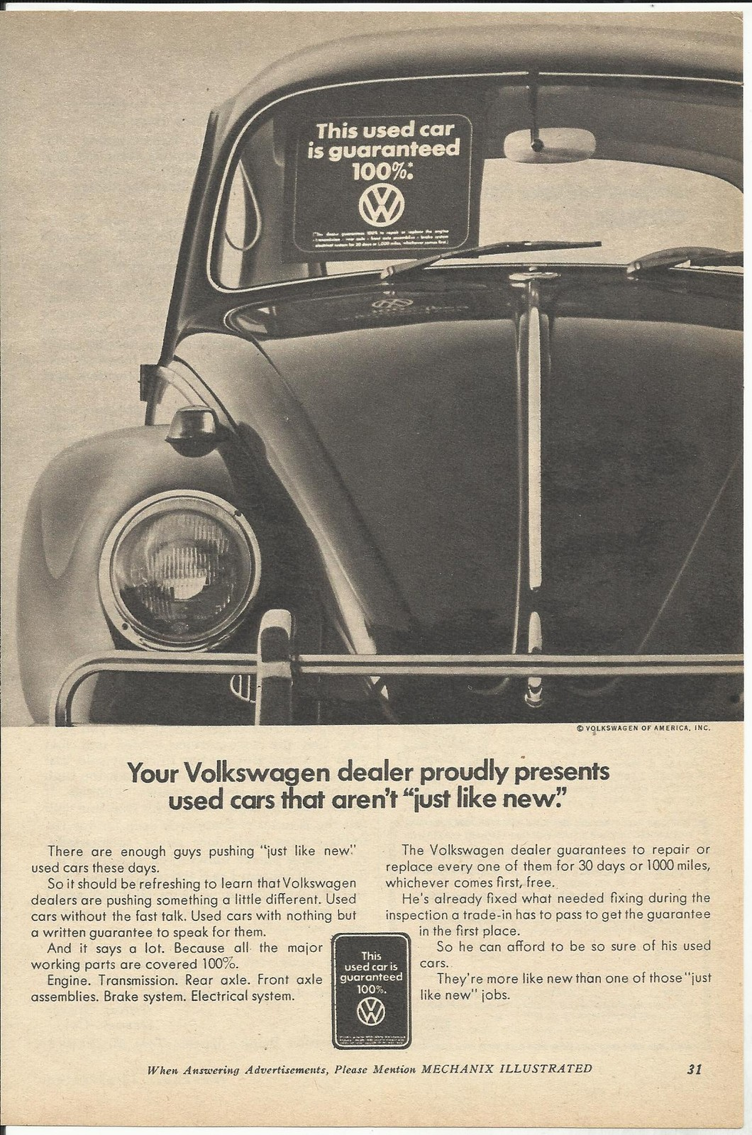 Streets Of Denver: VW; The People\'s Car... Truth in Advertising