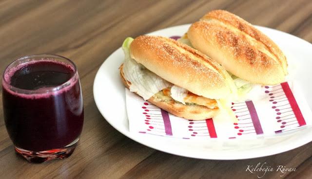 hellim peynirli atıştırmalık sandviç yapımı