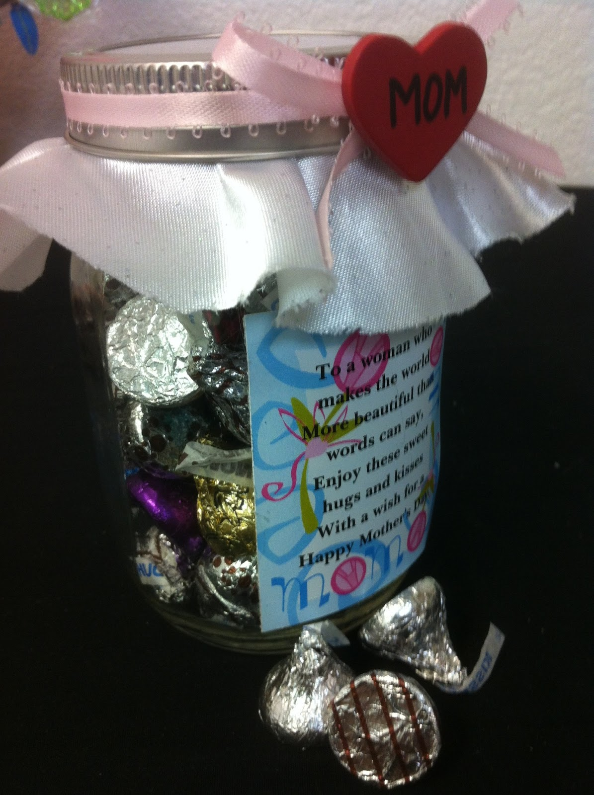 Hugs and Kisses Candy Jar Mothers Day Gift | Everyday Parties