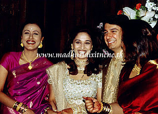 Madhuri Dixit with Husband and Nemarta Sharodkar Wedding Photos