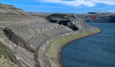 Lake Sacajawea Ice Age Flood Bar.