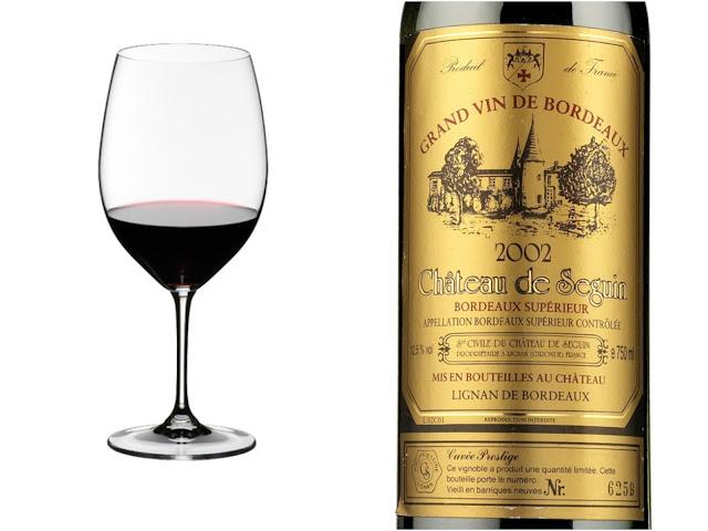 Riedel Vinum Bordeaux ja Château de Seguin Cuvée Prestige 2013 - www.blancdeblancs.fi