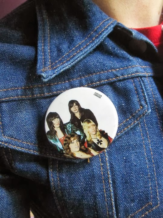 "vintage Sham 69 ""Tell us the truth"" badge 1960 1970 60s 70s punk jimmy pursey red space rocket The Sweet pinback button glam rock balllroom blitz piece of puzzle brooch"