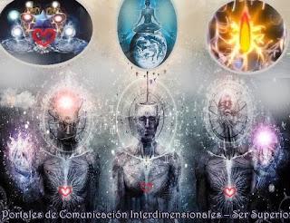 Estamos aquí en esta 'Falta de ahora' para estar en comunión con Uds. y hablarles de los Portales  de Comunicación Interdimensionales y de su Yo Superior, como ayuda con la Expansión de sus Conciencia así puedan percibir y moverse a las realidades dimensionales alternativas, paralelas y superiores.