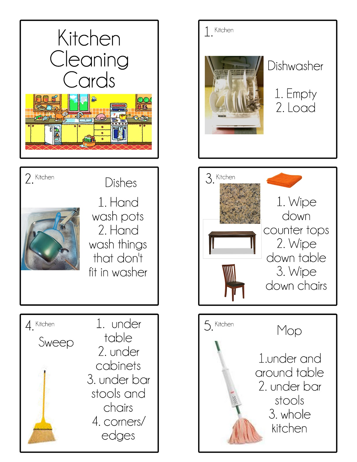 Luscious image pertaining to printable chore cards