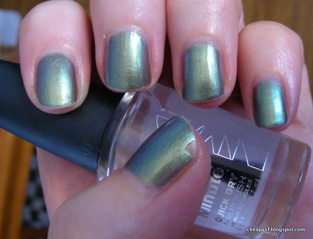 ULTA Jaded nail polish with NYC In a New York Minute Grand Central Station as topcoat.
