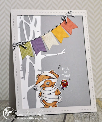 Halloween Bear card by Kim Singdahlsen using Boo Crew