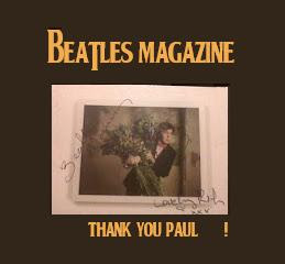 TARJETA DE PAUL MCCARTNEY DEDICADA Y AUTOGRAFIADA POR EL A BEATLES MAGAZINE&LOVELY RITA(18/06/2012)