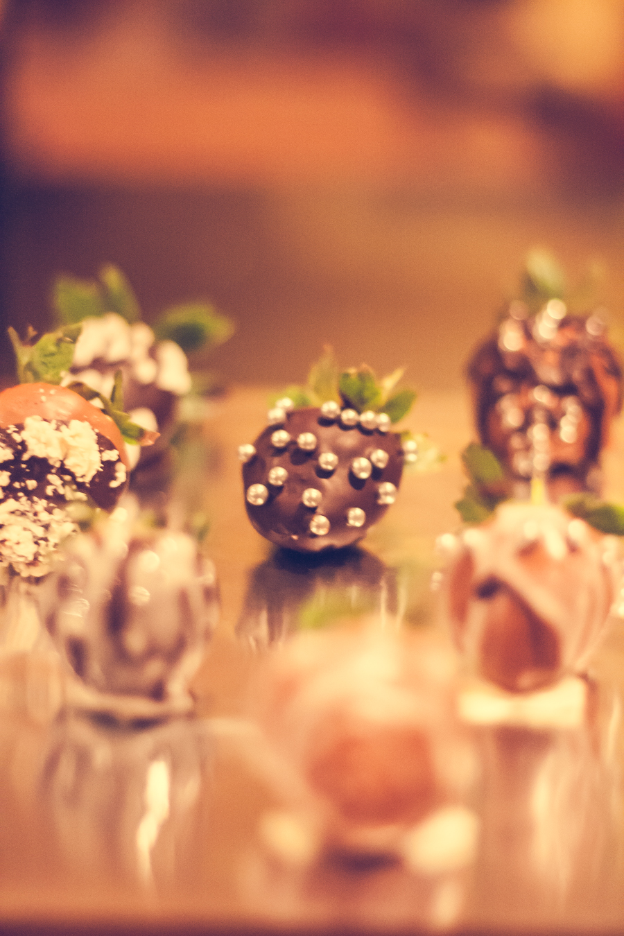Chocolate Strawberry with Silver Balls