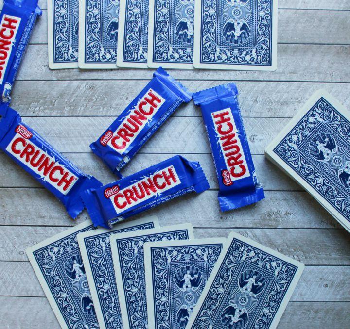 Nestlé® Crunch® fun size candy bars as poker chips
