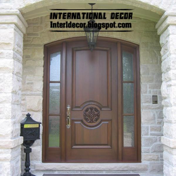Classic wood doors designs colors wood doors with glass sides 2013 - Classic Wood Doors Designs Colors Wood Doors With Glass