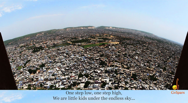 gvsparx jaipur from nahargarh fort, horizon