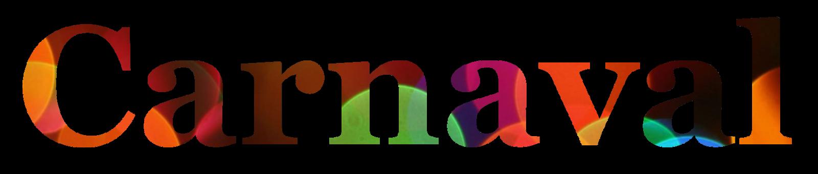nome carnaval 2 colorido com fundo transparente png