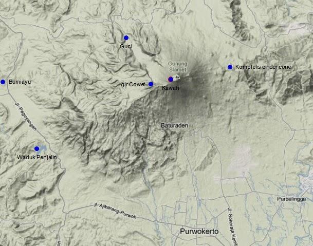 Topografi Gunung Slamet