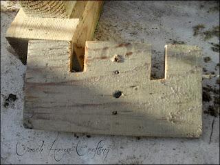 garden space saver, scrap wood, recycled milk carton