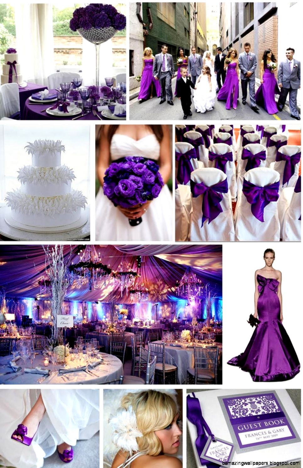 Purple Green And Gold Wedding Cake   Party Theme Decor