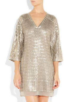 Embellished silk-chiffon mini dress by Reed Krakoff - from front