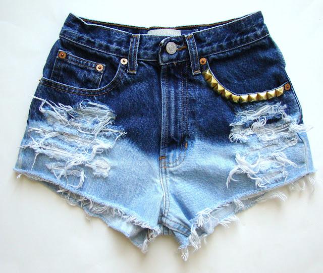 customização de short jeans