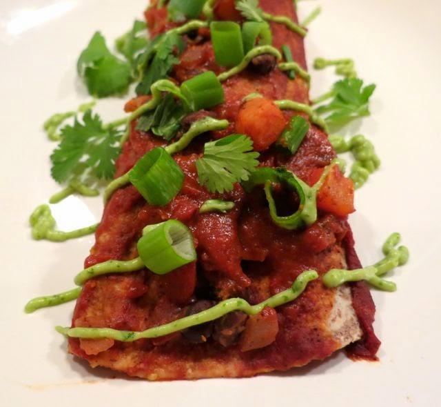 ... sauce flying on chicken enchiladas with avocado cream sauce recipe