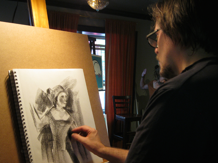 Art of Christopher Pew: Crystal Chandelier Live Art Niagara - May ...