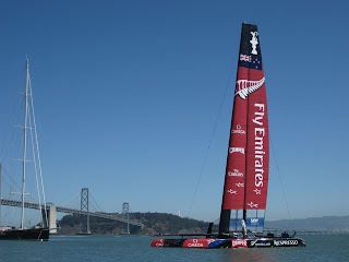Team New Zealand's America's Cup catamaran