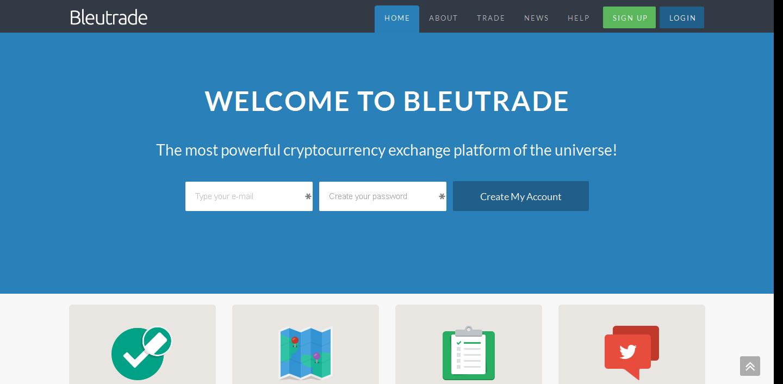 Chatting di bayar hanya di Bleutrade Exchanger