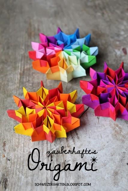 ein schweizer garten origami feuerwerk. Black Bedroom Furniture Sets. Home Design Ideas