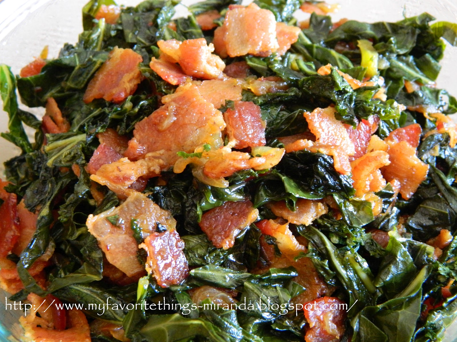 ... Favorite Things: Applewood Smoked Bacon & Maple Syrup Collard Greens