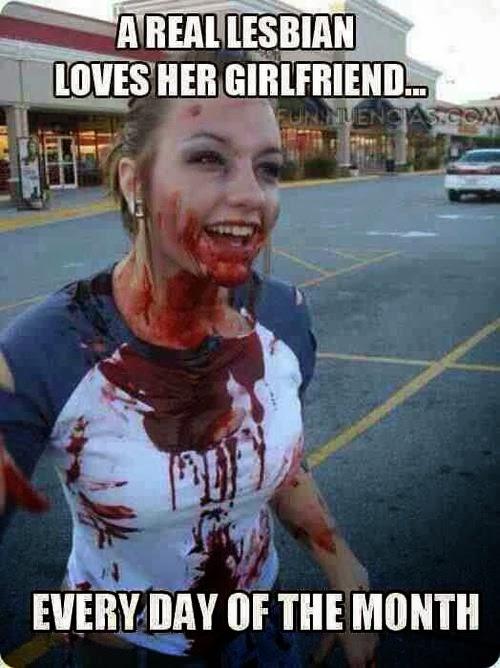 femme tee-shirt ensanglanté humoristique