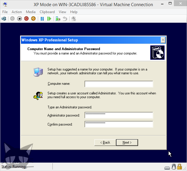 how to install windows xp machine
