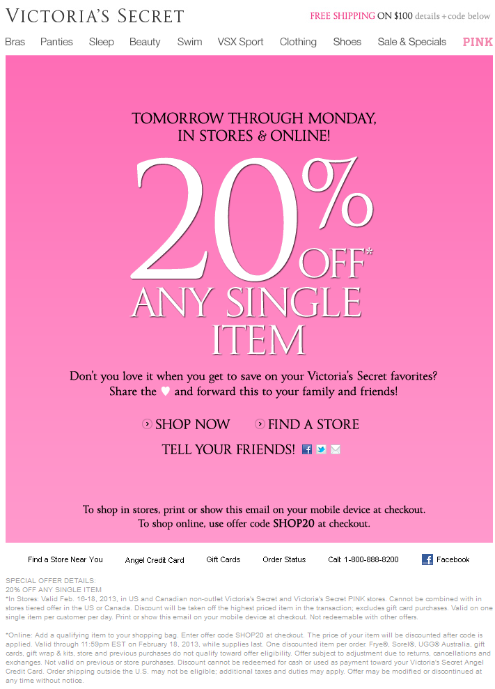 Victoria secret pink coupon codes