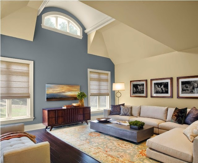 Paint colors for living room accent wall for Living room colors photos