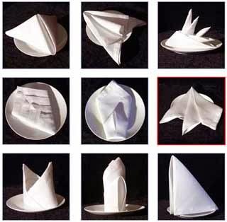 Como colocar o guardanapo de papel na mesa