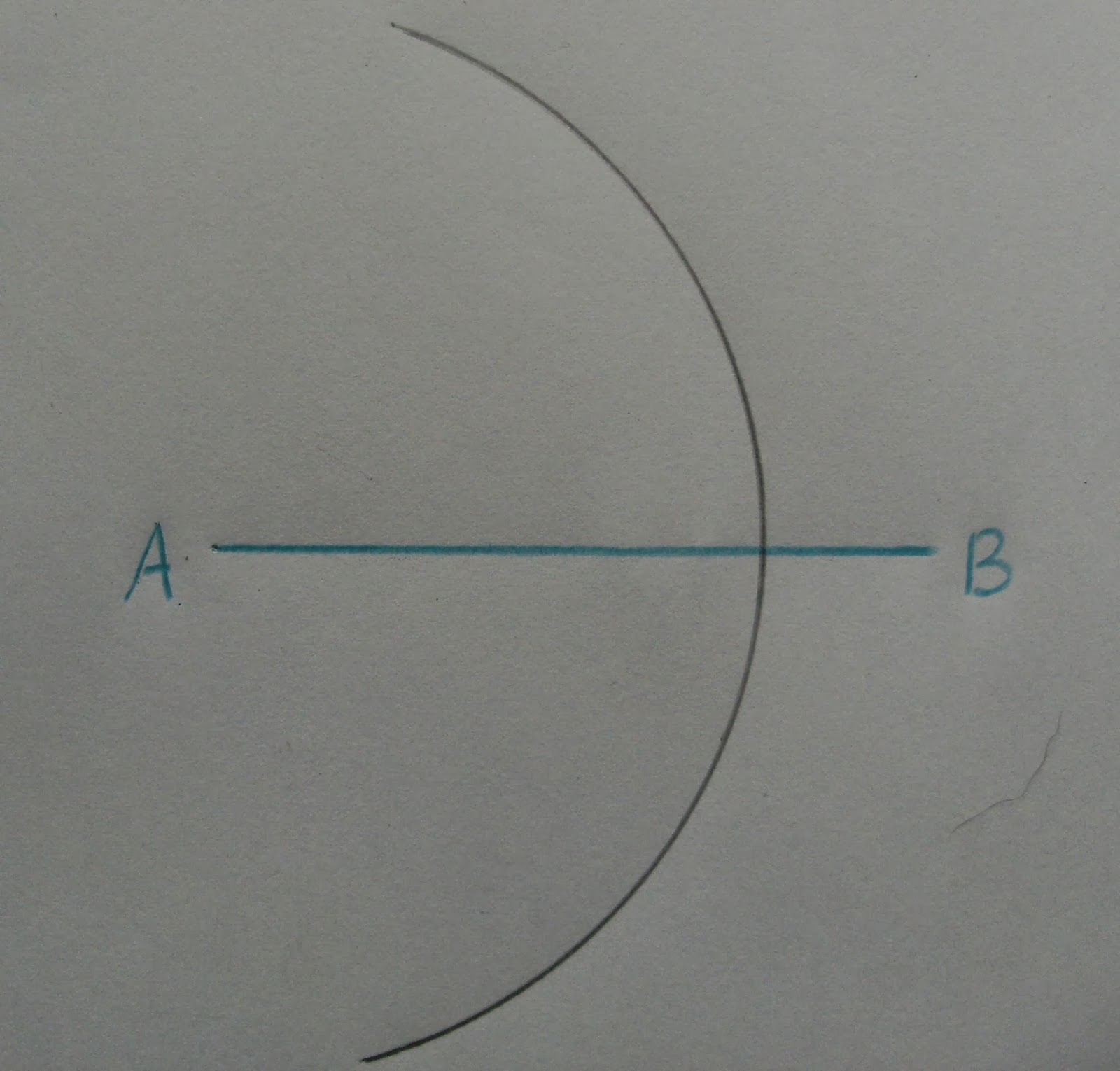Drawing Perpendicular Lines With A Compass : To construct the perpendicular bisector of a line segment