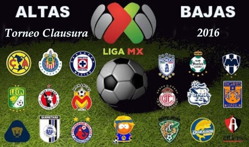 Altas y Bajas Clausura 2016 del Fútbol Mexicano | Blog de palma2mex