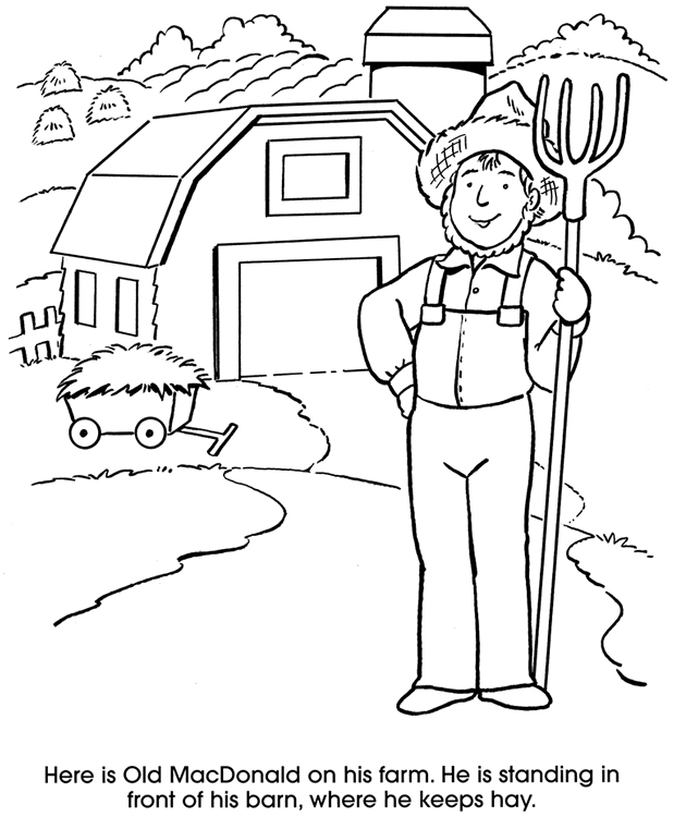 coloring pages old macdonald song - photo#7
