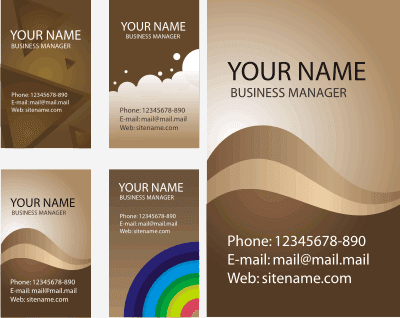 BROWN BUSINESS CARD VECTOR