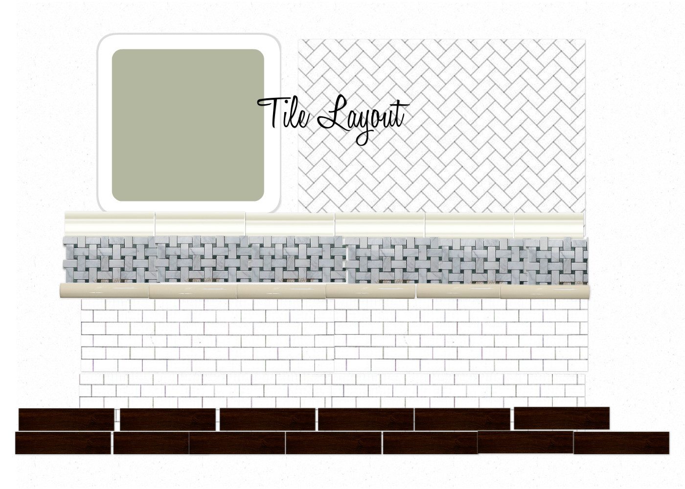 Bathroom Tile Layout Planner : Hope longing life southern style bathroom design plan