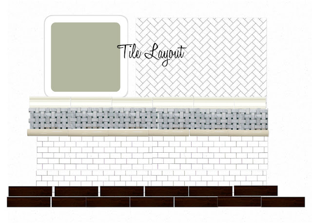 Hope longing life southern style bathroom design plan for Tile layout program