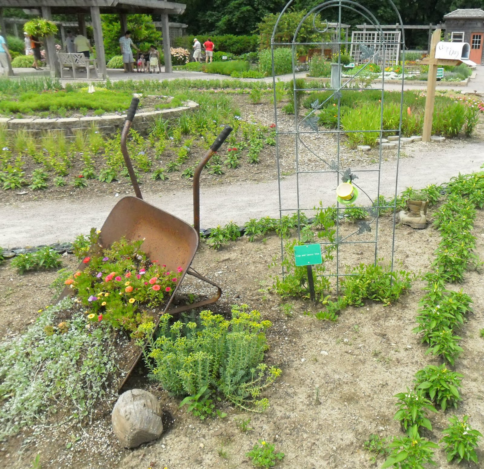 Flower Garden Ideas With Old Wheelbarrow backyard patch herbal blog: cantigny garden ideas