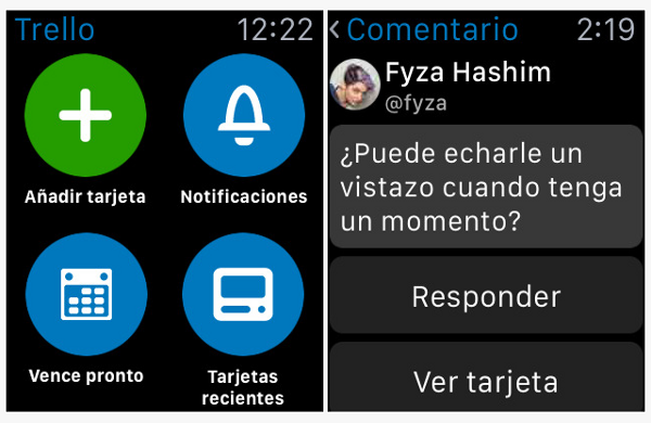 Trello para Apple Watch