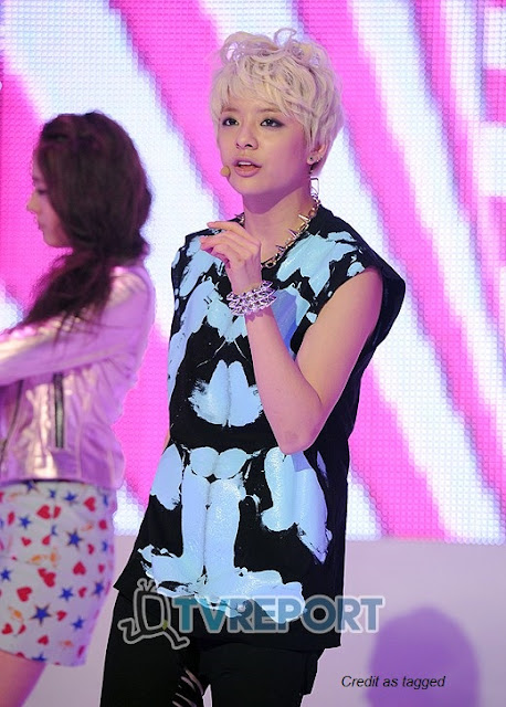 f(x) amber liu blonde hair