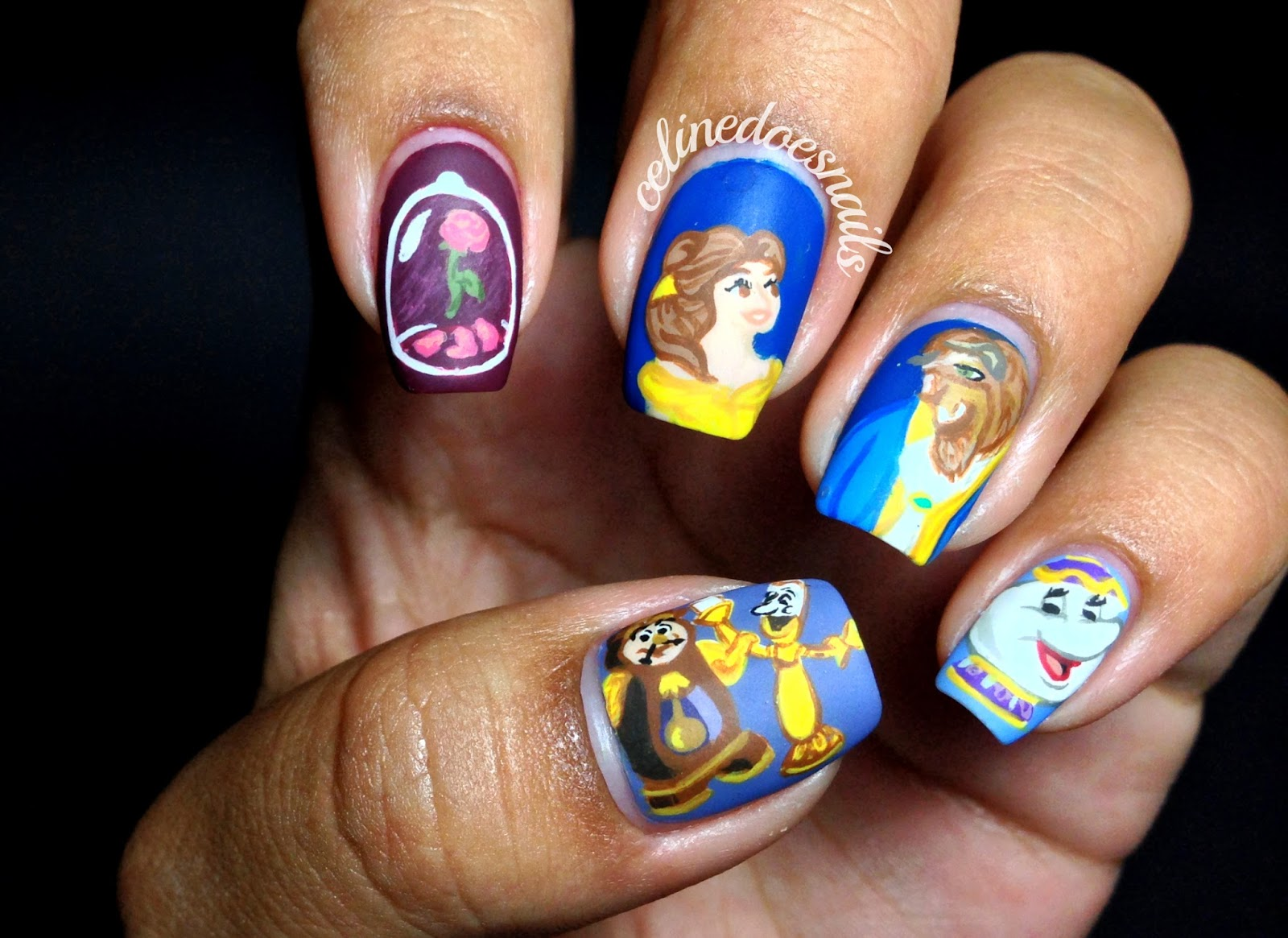 Nail Art Style B Is For Beauty And The Beast