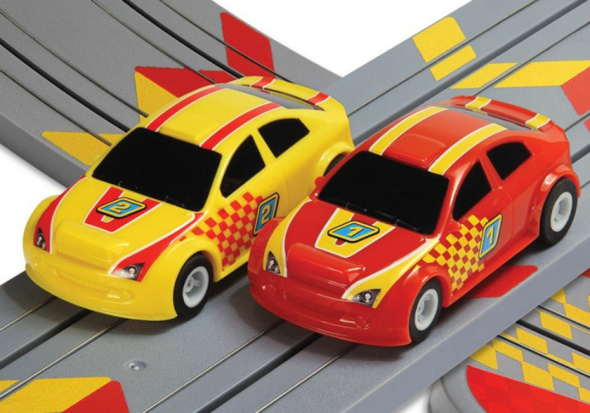 My First ScaleXtric red and yellow cars