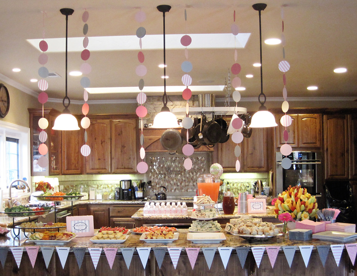 Pink & Gray Baby Shower {Food & Drinks Bar}