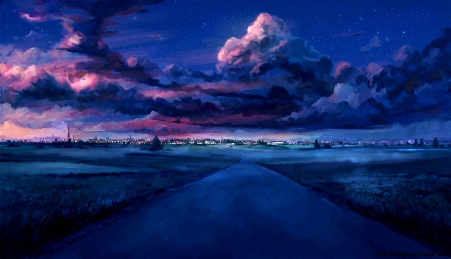 Anime Night Sky HD Wallpaper  1920x1080  ID51716