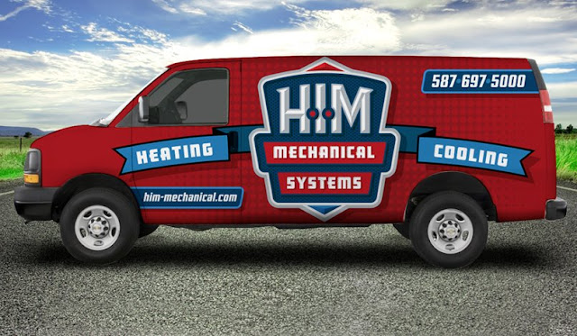 HVAC truck wrap example for hvac contractor