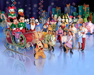 Disney On Ice Let's Celebrate! Ice Skating Mickey Mouse Minnie Mouse Walt Disney World Philips Arena Lilo Stitch Villains Jack Skellington Christmas sled Finale