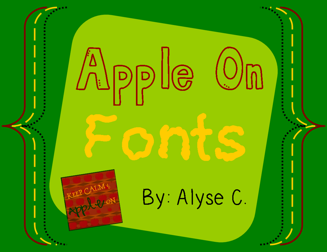 http://www.teacherspayteachers.com/Product/Apple-On-Font-Pack-1248585